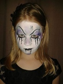 Miss Sparkles dark angel face paint
