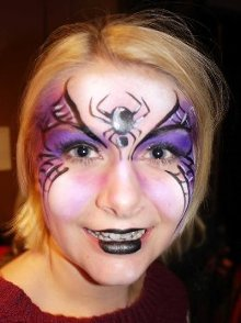 Miss Sparkles spider face paint