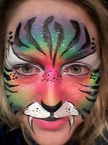 rainbow cat face painting Exeter