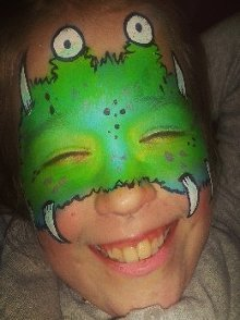 monster face paint by Miss Sparkles