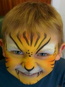 Miss Sparkles tiger face paint